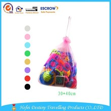 Fashion hot selling colorful durable drawstring storage bag for toy with high quality