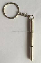 Mini plastic 3 in 1 screwdriver with keychain