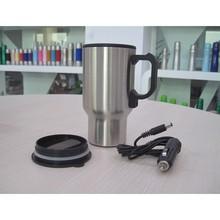 420ML Outside In Metal But Insider In Plastic Heating Auto Mug Travel Mug