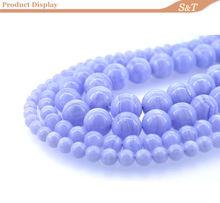 loose bead 6mm Blue lace agate jewellery making supplies beads