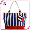 Wholesale Ladies Cheap Striped High Capacity Shoulder Bag Hangbag