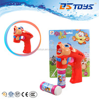 Mouse shape blowing soap bubble gun toys with flashing and music
