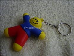 Eco Friendly Pu anti stress ball keychain