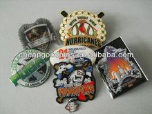 metal lapel pin of brand