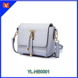 2015 elegant leather lady handbag with cross body from China