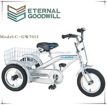 Children's tricycle GW7013 single speed cargo bike 12 inch three wheel bicycle