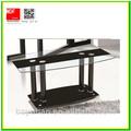 preto de vidro moderna mesa de café com pernas cromadas