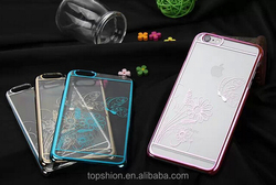 Shenzhen Topshion for iPhone mobile phone case, for iphone 6 accessory hard pc electroplating case cover,TSP6HC044