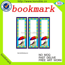 Paper folding for stationery promotional magnetic bookmark