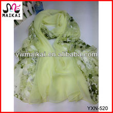 Wholesale spring summer light weight polyester air hostess scarf