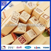 Lovely wooden Rubber Toy Stamps/Children stamp/kid funny stamps