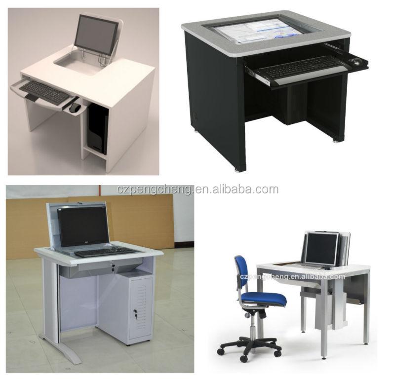 Hot sale modern flip top computer desk computer table for Flip top computer desk