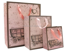 cheap elegant shopping gift high quality paper bag