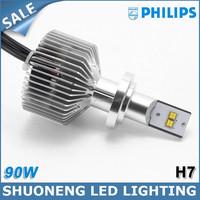 100% Original Chip 4500lm 45W 5th Generation H7 LED Philips Head Lighting Off-road