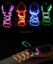 LED Shoelaces Light Up Shoe Laces with 3 Modes in 5 Colors Flash Lighting the Night for Party Hip-hop Dancing Cycling Hiking