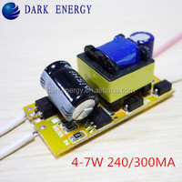 Wide voltage driver 4-7w 240ma 220v Led - Treiber