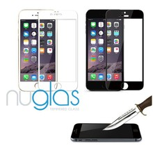 Full cover band and front anti-fingerprint tempered glass screen protector for iPhone 6