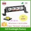 40W High power 11 inch led pencil beam light, flood combo beam high power led car light headlight bar sxs hot 4x4 led light bar