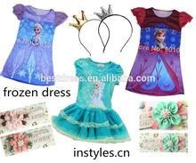 venta al por mayor 2014 congelados niña princesa reina elsa anna cosplay traje traje de fiesta de disfraces