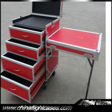 Professional ATA Drawer Flight Case with DJ Work Table and 4 Drawers---2 x 2U, 2 x 3U