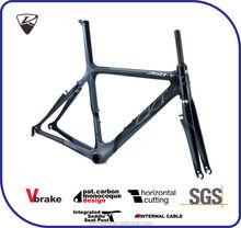 CKT 368V Black Gray Taiwan Carbon Bicycle Frame