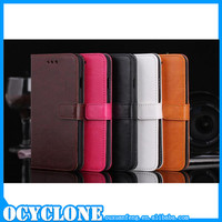 Factory direct selling crystal grain leather mobile phone case for iphone 6