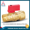 fastener forged brass ball valve cw617n material with forged control valve PN 40 and DN 20 with PPR hydraulic iron handel