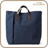 Promotional Businessman Navy Men Canvas Tote Bag for A4 file