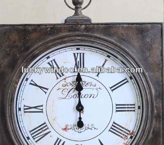 industrielle vieux style vintage horloge murale d corative en m tal horloge murale id du produit. Black Bedroom Furniture Sets. Home Design Ideas