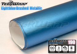 New Arrival High Quality Stretchable Light Blue Brushed Chrome Vinyl