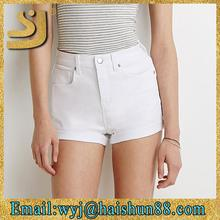 Trendy design fashion modern new styles casual cheapest hot ladies white girls denim shorts