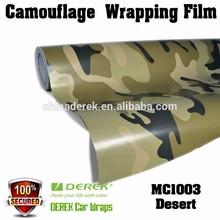 DEREK Desert Camouflage Auto Vinyl Sticker Rolls For Car