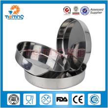 New chinese round stainless steel fruit tray set