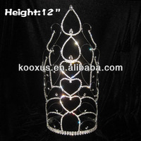 12 inch Crystal tall Pageant Crowns amd Tiaras
