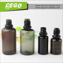 Factory price Hot sale 10ml 15ml 30ml smoke black pet plastic dropper bottles with CT cap