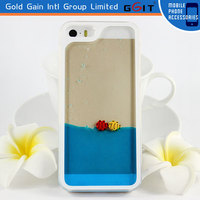 With Colorful Liquid Inside Case for iPhone 5 Hard Case