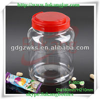 3.5L Transparent Plastic Children Educational Toys Tub with Handle, Large Plastic Bottle for Child's Toy Packaging