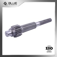 professional forged carbon steel spline gear shaft for mechnical drive