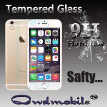 Factory Tempered Glass Screen Protector for iphone6 with 0.3mm 99% transparency 2.5D