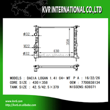 mechanical radiator for CLIO II/KANGOO/MEGANE I/LOGAN OEM 7700838134