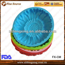 Pastel de decoración de flor Silicona molde de pasta de azúcar