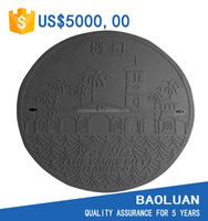 Baoluan brand manhole cover round septic tank cover in frp composite material