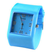 Fangcan Silicone Square Watch with Candy Color