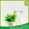 Decorative Fresh Umbrella Plastic Drinking Straw for Party