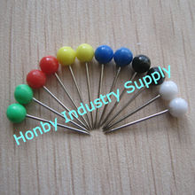 Office Used,4mm x 17mm Assorted Color Plastic Round Push Pin