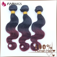 Fabwigs FH198 celebrity style T1b-99j brazilian ombre bundles hair weaves sew in human hair weave ombre hair
