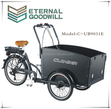 E-trikes CE Euro three wheels 36V 9Ah family electric cargo bike/wholesale adult tricycles/electric bicycle bakfiets UB9031E
