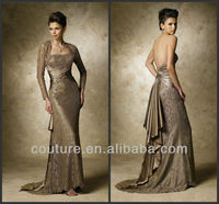 2013 luxurious sheath strapless floor length sexy mother of the bride dresses pics with jacket md082