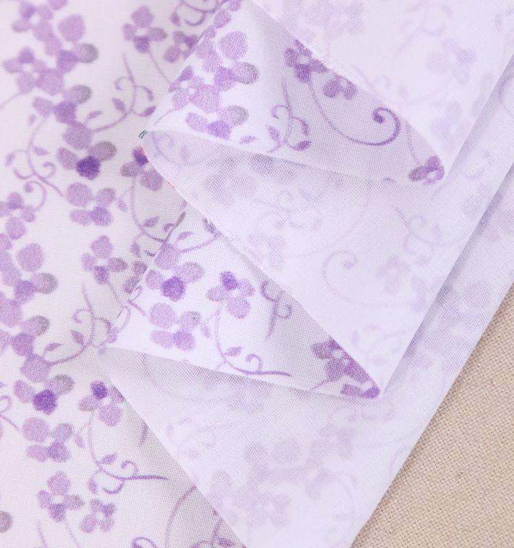 China atacado fábrica de belos desenhos de flores impresso tecido de algodão de tafetá para o vestuário