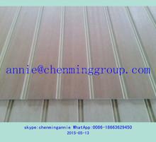 veneer MDF slatwall panel